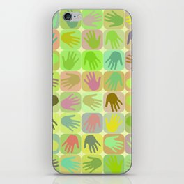 Multicolored hands pattern iPhone Skin
