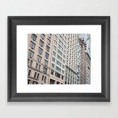 Shapes of New York City Framed Art Print