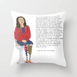 Senator Tammy Duckworth Throw Pillow