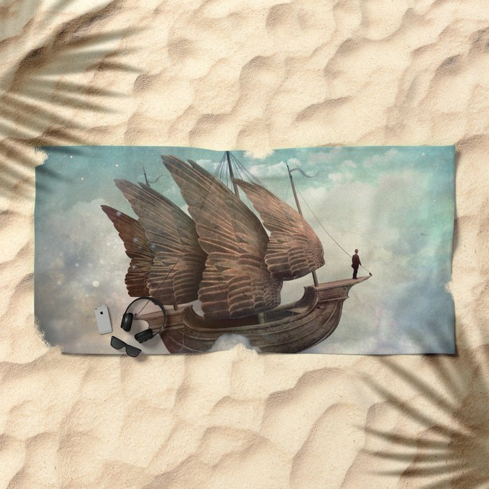 Flying Merchant Beach Towel