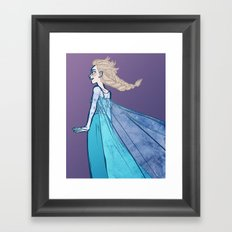let the storm rage on Framed Art Print