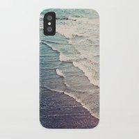 waves iPhone & iPod Cases featuring Ocean Waves Retro by Kurt Rahn