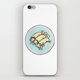 Snug as a Pug on a Rug iPhone Skin