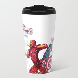 Ciwil War - Caption America vs Iron Man Travel Mug