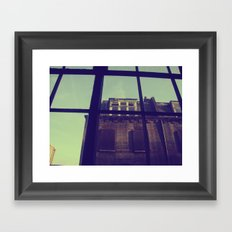 London window Framed Art Print