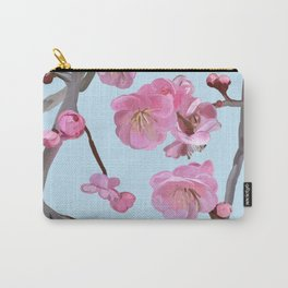 painted plum blossom sky blue Carry-All Pouch