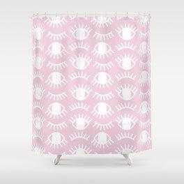 Wide Eye Awake Shower Curtain