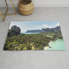 Railay Bay - Rai Leh Beach, Krabi Thailand  -  Tropical Paradise Rug