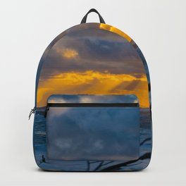 Storm Surf at Sunset Backpack