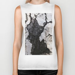 bark abstact no1 Biker Tank