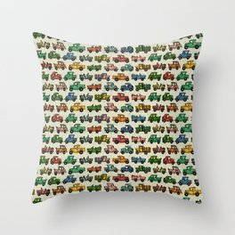 Cars and Trucks Throw Pillow