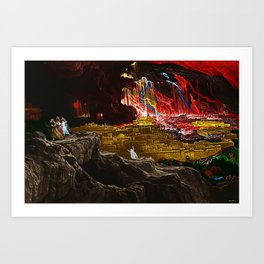 The Destruction of Sodom and Gomorrah Landscape Painting by Jeanpaul Ferro Art Print