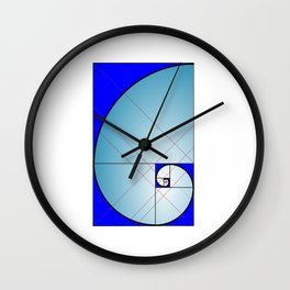 Logarithmic Spiral Wall Clock