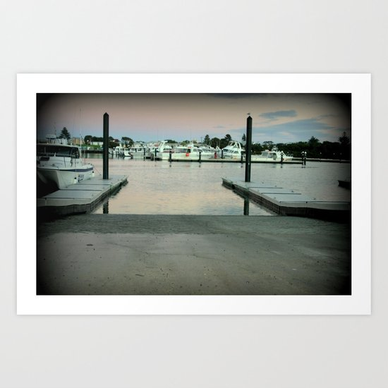 Early morning at Robe, South Australia Art Print