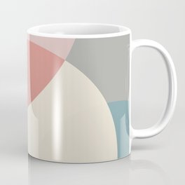 Earth tones overlapping geometric shapes Coffee Mug