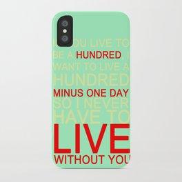 quotes iPhone Case