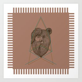 Tribal Bear-Man Art Print