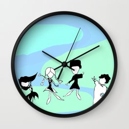 World Dancers - Blue Wall Clock