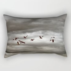 October Storm, Headed Home (Snow Geese) Rectangular Pillow