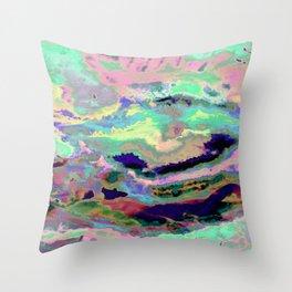 Iridescent caos Throw Pillow