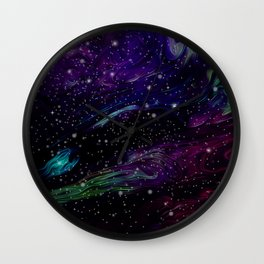 Inhabited space Wall Clock