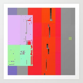 breach in the memory system Art Print