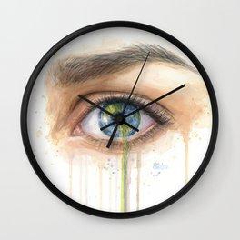 Crying Earth Eye Wall Clock