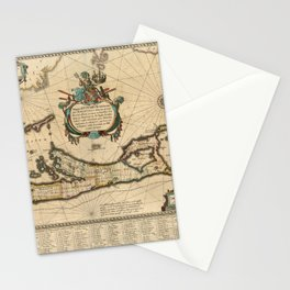 Map of Bermuda 1662 Stationery Cards