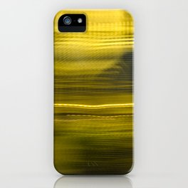 Yellow Lights Speed Effect iPhone Case