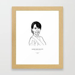 Aung San Suu Kyi Framed Art Print