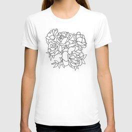 Minimal Flower Cluster T-shirt