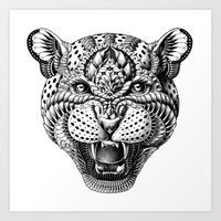 leopard Art Prints featuring Leopard by BIOWORKZ