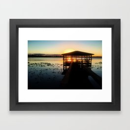 Dock Sunset Framed Art Print