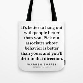 12  | Warren Buffett Quotes | 190823 Tote Bag