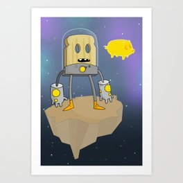 Space Toast Art Print