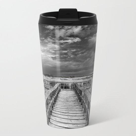 """Daimiel"" Bridge at the lake Metal Travel Mug"