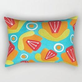 Orange Floral Rectangular Pillow