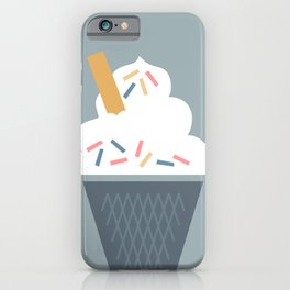 Ice Cream (Blue) iPhone Case