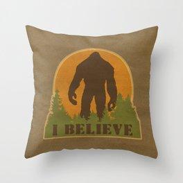 Bigfoot - I believe Throw Pillow