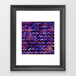 Galactic Chevron Framed Art Print