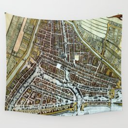 Vintage Map of Rotterdam Netherlands (1649)  Wall Tapestry