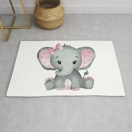 Cute Baby Elephant Rug