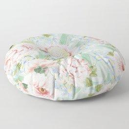 Vintage Blush Peonies  Floor Pillow