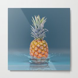 Pineapple Strike Metal Print