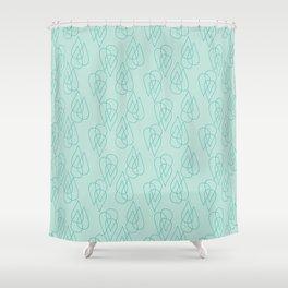 Rain Drops in Green Shower Curtain