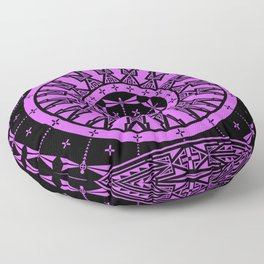 Ancestors (Black Lavender) Floor Pillow