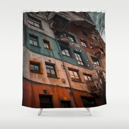 Hundertwasser museum Shower Curtain