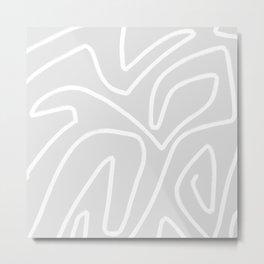 Light grey abstract art Metal Print