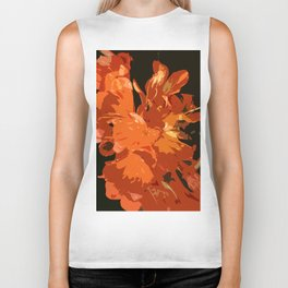 Orange Bush Lily Biker Tank