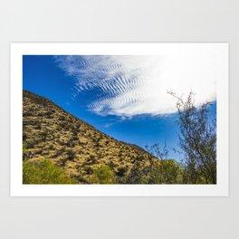 Clouds Stretching Across a Deep Blue Sky in the Anza Borrego Desert, California, USA Art Print